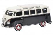 Schuco 452632000 VW T1/2c Sambabus schwarz/weiß
