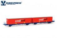 Sudexpress SUCM64917 Comsa Containerwagen 4-achs Ep.6
