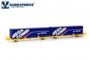 Sudexpress SUTF32617 Transfesa Containerwagen 4-achs Ep.5