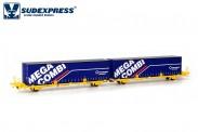 Sudexpress SUTF33317 Transfesa Containerwagen 4-achs Ep.6