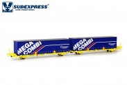 Sudexpress SUTF41517 Transfesa Containerwagen 4-achs Ep.5