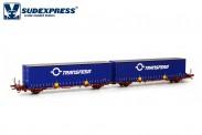 Sudexpress SUTF60617 Transfesa Containerwagen 4-achs Ep.5