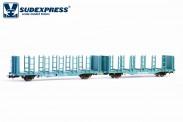 Sudexpress WRSE101 Railtrans Holztransportwagen Ep.5/6
