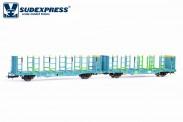 Sudexpress WRSE130 Ermewa Holztransportwagen Ep.5/6