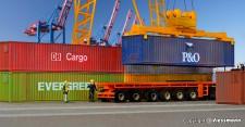 Kibri 10922 40-Fuß-Container, 6 St.