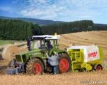 Kibri 12233 Fendt Traktor mit Anbaugeräten
