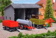 Kibri 12996 Landwirtschaftliches Anhänger-Set 5-tlg