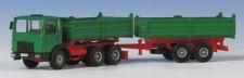 Kibri 14040 MAN F8 Tandemkipp-HZ grün