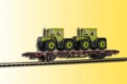 Kibri 26256 Niederbordwagen mit zwei MB Tracs