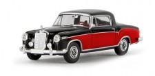 Brekina 13504 MB 220 S Coupe schwarz / rot