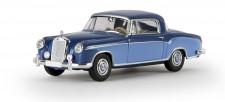 Brekina 13505 MB 220 S Coupe dunkelblau / hellblau