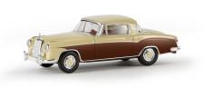 Brekina 13506 MB 220 S Coupe elfenbein / braun