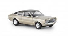 Brekina 19207 Ford Taunus Coupe GXL gold/schwarz 1972