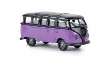 Brekina 31841 VW T1/2b Samba schwarz/lila