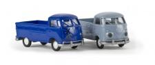 Brekina 32958-02 VW T1/2b Pritsche Export graublau