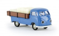 Brekina 32973 VW T1/2b mit Westfalia-Pritsche blau