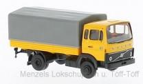 Brekina 34751 Volvo F613 Pritsche/Pl. gelborange