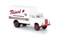Brekina 45043 MAN 635 Koffer-Lkw Reinert Wurst