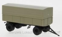 Brekina 55258-2 2achs Schweranhänger beige/schwarz