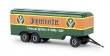 Brekina 55293 3a Koffer-Anhänger Jägermeister