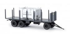 Brekina 55303 Rungen-Anhänger m. Container DB