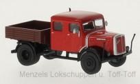 Brekina 58097 Saurer 7G1F-F DoKa Pritsche rot
