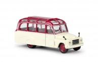 Brekina 58180 Hanomag L28 Lohner-Bus rot/elfenbein