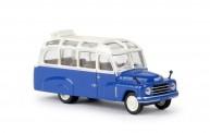 Brekina 58181 Hanomag L28 Lohner-Bus weiß/enzianblau