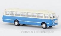 Brekina 58255 Jelcz 043 Bus hellelfenbein/blau