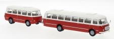Brekina 58263 JZS Jelcz 043 Bus mit P-01 Hg. rot/weiß