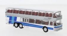 Brekina 58290 Neoplan NH22 Doppeldecker silber/blau
