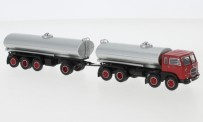 Brekina 58450 Fiat Millpiedi Tank-HZ rot/silber