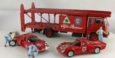 Brekina 58477 Set: Fiat 642 Renntransporter Alfa Romeo