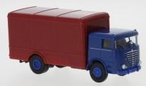 Brekina 79220 Büssing LU11 F Koffer-Lkw blau/rot