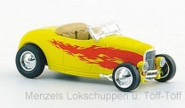 Brekina RIK38497 Ford Hot Rod Roadster gelb/Dekor