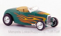 Brekina RIK38597 Ford Hot Rod Roadster grün/Dekor