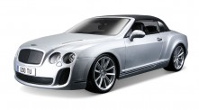 Bburago 11037S Bentley Continental Cabrio silbermet.