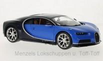 Bburago 11040X Bugatti Chiron, blau/schwarz