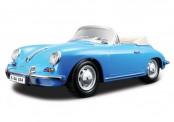 Bburago 12025BL Porsche 356B Cabrio blau