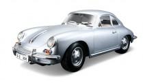 Bburago 12026S Porsche 356B Coupe silbermet. 1961