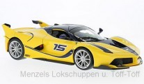 Bburago 16010Y Ferrari FXX-K #15 gelb