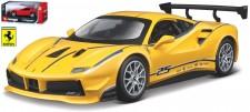 Bburago 26307 Ferrari 488 Racing Challenge gelb