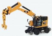 DM Diecast Masters 85656 CAT M323F Rail Zweiwegebagger Cat gelb