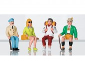 LGB 53007 Figuren-Set Touristen sitzend