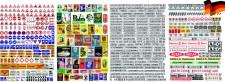 LOEWE 9001 Schilder, Tafeln, Reklame, HO, 4 Bögen,