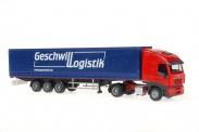 Rietze 60852 Iveco Stralis GPSZ Geschwill Logistik