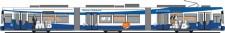 Rietze STRA01008 MVG Straßenbahn GT6N 3-tlg Ep.6 dmy.