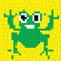 mini Pixel 10000 Fertigbild Frosch (13,3 x 13,3cm)