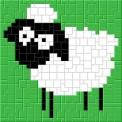 mini Pixel 10001 Fertigbild Schaf (13,3 x 13,3cm)