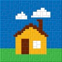 mini Pixel 10002 Fertigbild Haus (13,3 x 13,3cm)